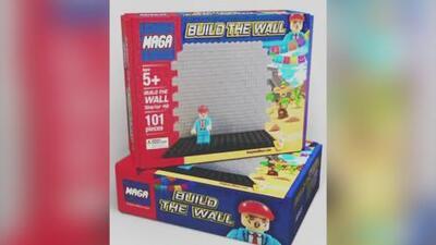 Sale a la venta un juguete para que los niños puedan construir el muro fronterizo de Trump