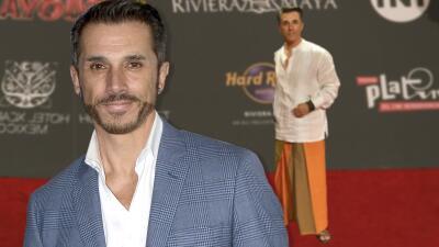 Sergio Mayer lo volvió a hacer y se puso falda (pero esta vez por una causa muy especial)
