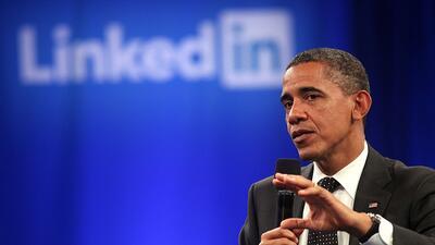 Así sería el perfil de Barack Obama en LinkedIn