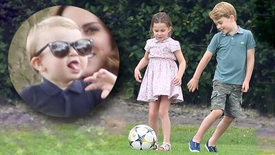 Las fotos que muestran a los príncipes George, Charlotte y Louis robándose algo del primer show de su primo Archie