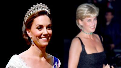 Kate Middleton rinde tributo a Lady Diana con la tiara que presumió en el banquete con Trump