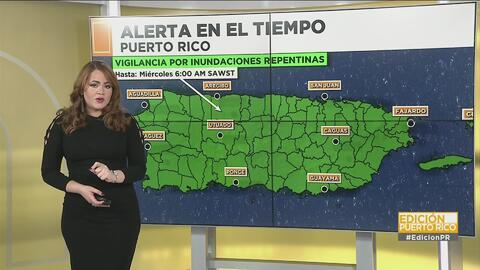 Emiten una vigilancia por inundaciones repentinas en Puerto Rico