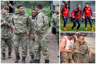 Entrenamiento de rigor: La selección de Inglaterra se prepara con el Ejército Real
