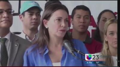 María Corina Machado declara ante justicia por supuesto plan para matar a Maduro