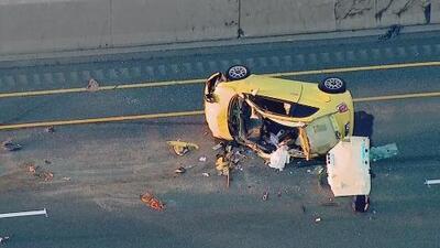 Una persona muerta y un oficial herido, el saldo de un accidente fatal en la autopista I-55