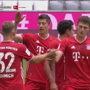 ¡Lo hacen ver fácil! Lewandowski de forma brillante asiste a Kimmich para el 1-0 sobre Freiburg