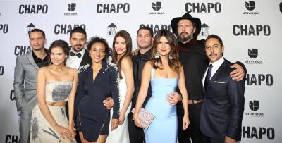 La alfombra roja en la premiere de la serie 'El Chapo'