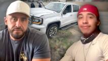 Juan Rivera regresa al lugar del accidente donde su hijo milagrosamente salió ileso y da su versión