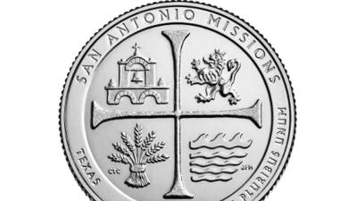 Presentan nueva moneda en honor a las Misiones de San Antonio