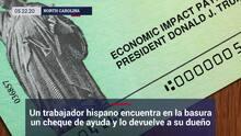 Un trabajador hispano encuentra en la basura un cheque de ayuda y lo devuelve a su dueño