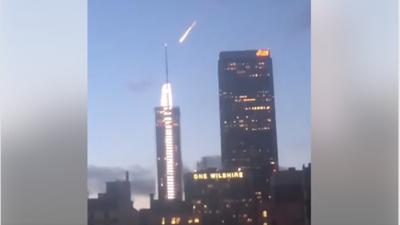 Bola de fuego en el cielo asusta -y sorprende- a los habitantes de Los Ángeles