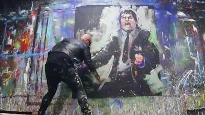 ¡El arte del fútbol! Las increíbles pinceladas de David Garibaldi harán parte de República Deportiva