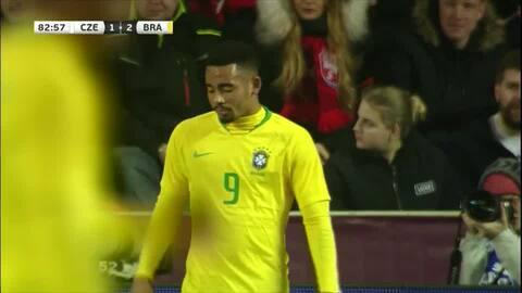 ¡Gol de la Canarinha! Gran triangulación de Brasil que define Gabriel Jesus