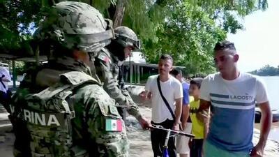 Mexico gets tough with migrants at Guatemala border