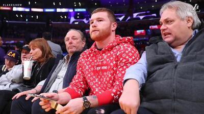 'Canelo' Álvarez, el invitado de lujo en el partido de los Lakers