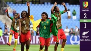 ¡En la compensación! Camerún avanza a octavos de final del Mundial femenil de forma agónica