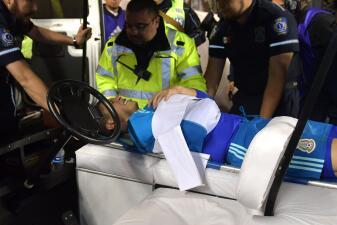 La lesión que sacó en ambulancia a Hugo González tras el amistoso contra Chile