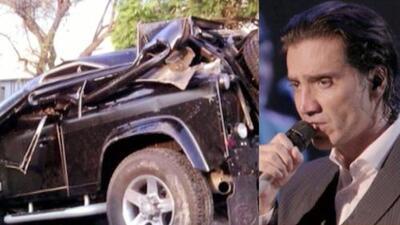 ¡Así quedó el carro de Alejandro Fernández luego de un choque!