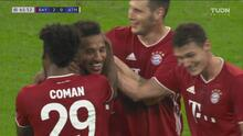 ¡Bombazo y golazo! Tolisso la pone en el ángulo para el 3-0 del Bayern