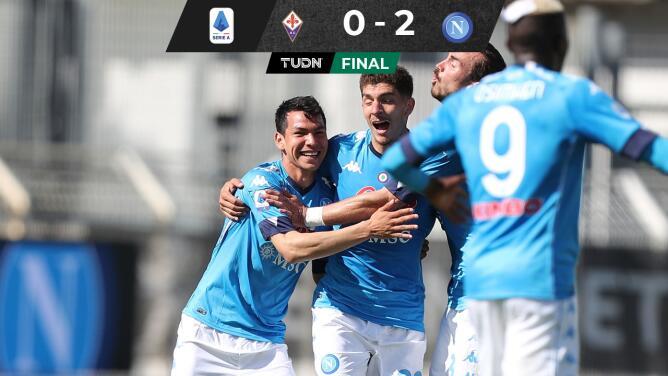 Napoli y 'Chucky' Lozano apestan a Champions al derrotar a la Fiorentina