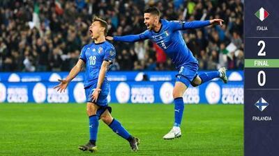 Italia 2-0 Finlandia - GOLES Y RESUMEN - ELIMINATORIAS - Eurocopa 2020