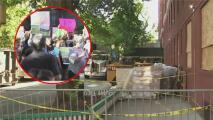 Activistas e inquilinos afectados por incendio en Queens protestan para pedir ayuda y evitar su desalojo