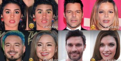 Mira cómo quedan estos famosos en FaceApp, la app de moda que te cambia de sexo
