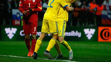 Ucrania 1-1 Eslovenia: Ucrania logra su boleto a la Eurocopa