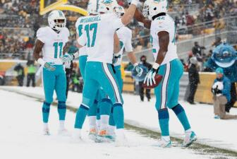 Dolphins vence a Steelers