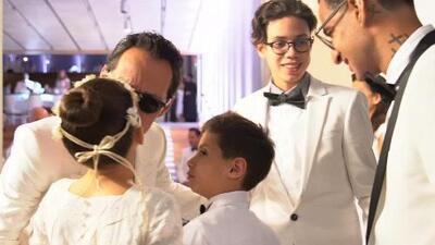 Marc Anthony celebra sus 50 años en compañía de los hijos que tuvo con JLo y Dayanara Torres (en lujosa fiesta)