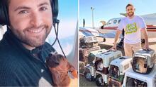 Joven piloto traslada de manera voluntaria animales que se encuentran en situación de riesgo a hogares seguros
