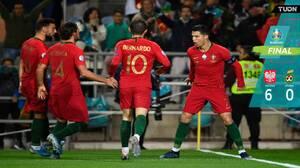 Con 'hat-trick' de Cristiano, Portugal vapuleó a Lituania