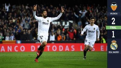 El Valencia se crece en Mestalla y vence a un deslucido Real Madrid