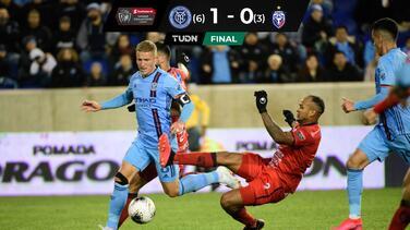 NYC FC vence a San Carlos y avanza a los Cuartos de Final