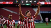 Con Héctor Herrera, el Atlético goleó y sigue líder en España