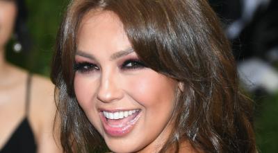 """""""No le digan a Tommy Mottola"""", dice Thalía al mostrar con quién pasó la noche"""