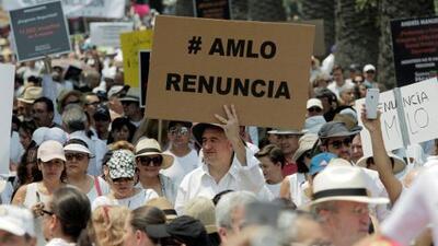 Por qué marchan para pedir la renuncia de AMLO y qué tan común es eso en México al inicio de un gobierno