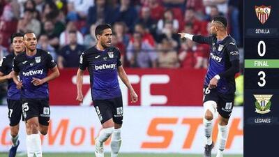 Sin Diego Reyes, el Leganés goleó al Sevilla y le complica la cuarta plaza