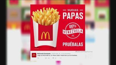 Las papas regresan a Venezuela