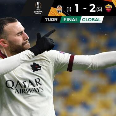 La Roma ganó en Donetsk y concretó el pase a Cuartos de Europa League