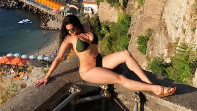 EN FOTOS: Carla Medrano enloqueció Italia con sus encantos