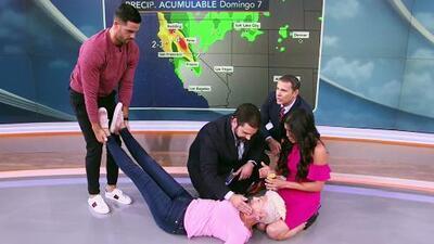 Albert Martínez fue víctima de una broma en vivo y esta fue su reacción al ver una mujer desmayada frente a él