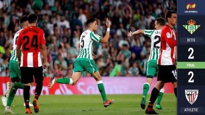 El Betis de Andrés Guardado alcanza a rescatar el empate ante el Athletic