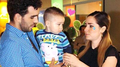 Ariadne Díaz y Marcus Ornellas platicaron cómo fue el primer día de escuela de su pequeño Diego