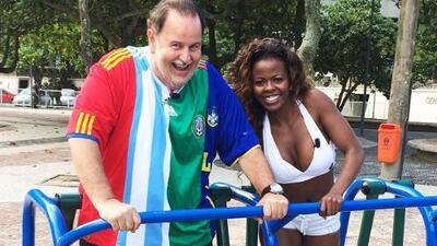 ¡Qué Suerte! Raúl 'Gordinho' de Molina fue entrenado por una bella Garota en Brasil