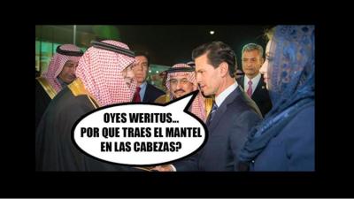 Memes de Enrique Peña Nieto y Angélica Rivera en Medio Oriente