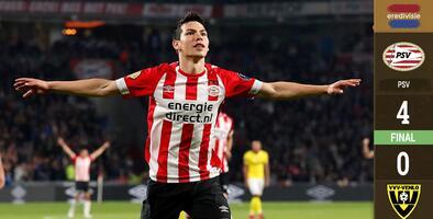 ¡Viva México! Lozano y Gutiérrez se lucen con goles en el triunfo del PSV ante el Venlo