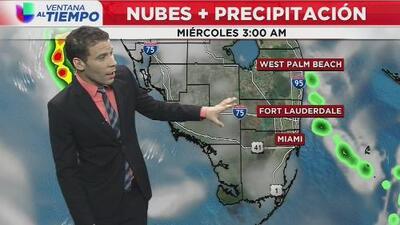 Lluvias y cielos nublados predominarán durante este miércoles en Miami