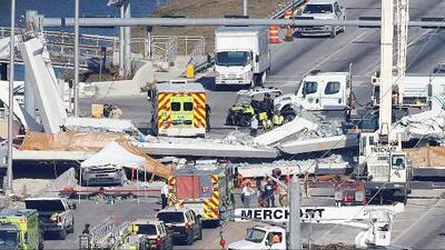 """""""Cooperaremos con los investigadores en todas las formas posibles"""": Constructora del puente colapsado en Miami"""