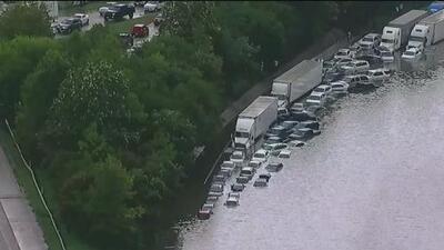 Imágenes muestran los estragos de las inundaciones en Houston tras el paso de 'Imelda'
